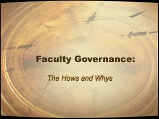 Faculty Governance: