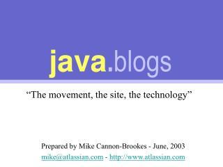 java . blogs
