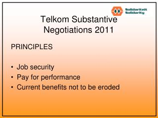 Telkom Substantive  Negotiations 2011