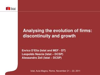 Analysing the evolution of firms: discontinuity and growth