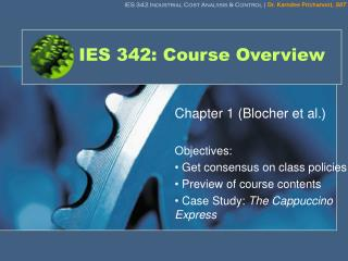IES 342: Course Overview