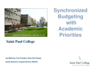 Synchronized Budgeting  with  Academic Priorities