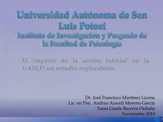El impacto de la acción tutorial en la UASLP: un estudio exploratorio
