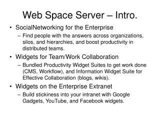 Web Space Server – Intro.