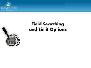 Field Searching  and Limit Options