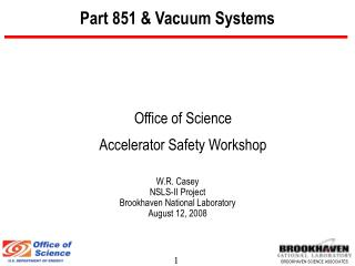Part 851 & Vacuum Systems