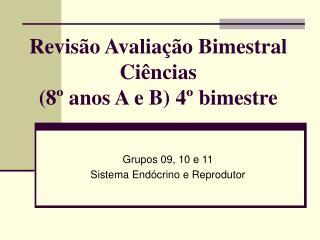 Revisão Avaliação Bimestral Ciências (8º anos A e B) 4º bimestre