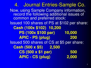 4.Journal Entries-Sample Co.