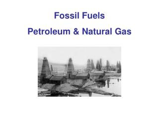 Fossil Fuels Petroleum & Natural Gas