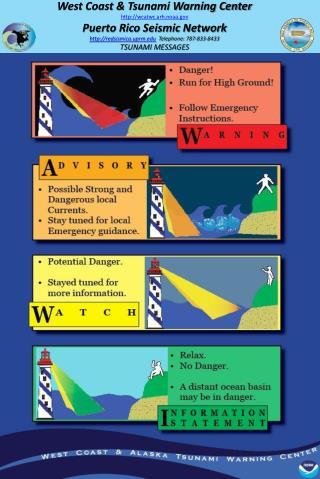 West Coast & Tsunami Warning Center wcatwc.arh.noaa Puerto Rico Seismic Network