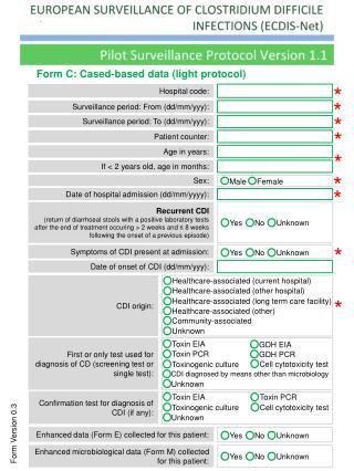 Form C: Cased-based data (light protocol )