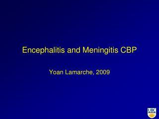 Encephalitis and Meningitis CBP