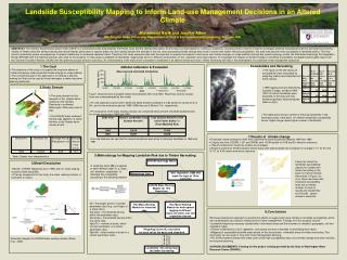 Landslide Susceptibility Mapping to Inform Land-use Management Decisions in an Altered Climate