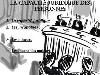 La capacité juridique des personnes