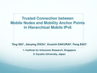 Trusted Connection between  Mobile Nodes and Mobility Anchor Points in Hierarchical Mobile IPv6