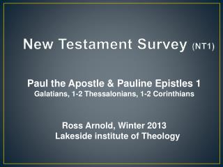 New Testament Survey  (NT1)
