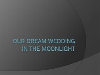 Our Dream Wedding in the moonlight