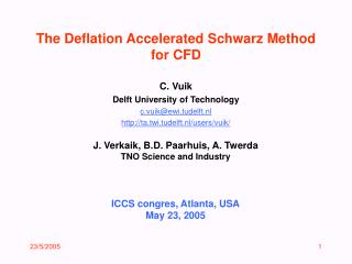 The Deflation Accelerated Schwarz Method for CFD