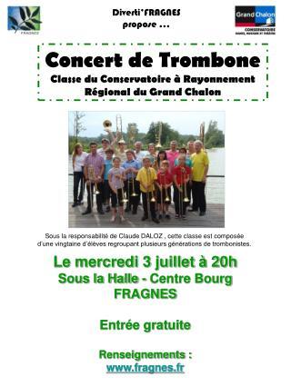 Concert de Trombone Classe du Conservatoire à Rayonnement Régional du Grand Chalon