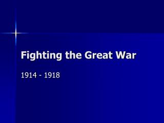 Fighting the Great War
