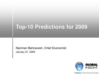 Top-10 Predictions for 2009
