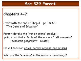 Soc 329 Parenti