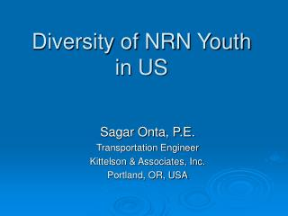 Diversity of NRN Youth in US