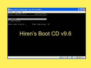 Hiren's Boot CD v9.6