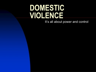 ABUSE Domestic Violence