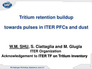 Tritium retention buildup  towards pulses in ITER PFCs and dust