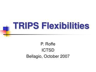 TRIPS Flexibilities