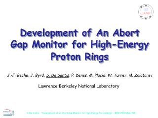 Development of An Abort Gap Monitor for High-Energy Proton Rings