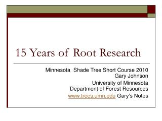 15 Years of Root Research