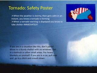 Tornado: Safety Poster