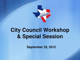 City  Council Workshop & Special  Session