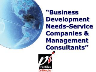 """Business  Development  Needs-Service Companies & Management Consultants"""