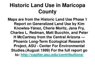 Historic Land Use in Maricopa County