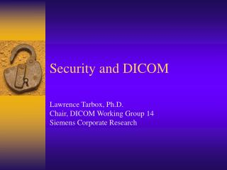 Security and DICOM