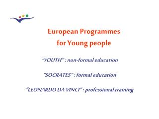 European Programmes  for Young people