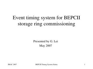 Event timing system for BEPCII storage ring commissioning