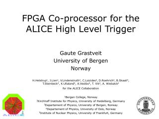FPGA Co-processor for the ALICE High Level Trigger