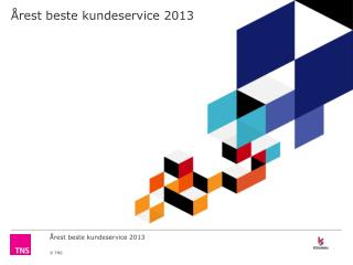Årest beste kundeservice 2013