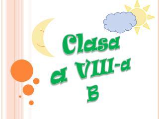 Clasa  a VIII-a B