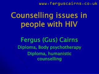 Counselling issues in people with HIV