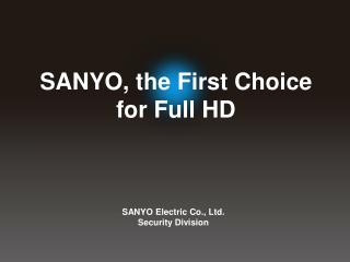 SANYO Electric Co., Ltd. Security Division