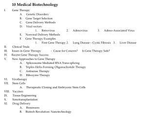 10 Medical Biotechnology