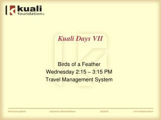 Kuali Days VII