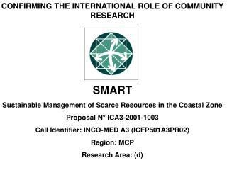 CONFIRMING THE INTERNATIONAL ROLE OF COMMUNITY RESEARCH SMART