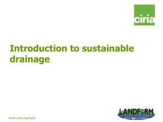 Introduction to sustainable drainage