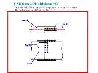 CAD homework additional info